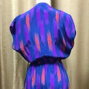 Tucker 100% Silk Dress Size Medium Midi Wrap